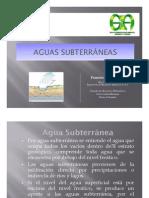 Clase 7. Aguas Subterraneas