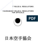 Jka Tournament Rules and Regulations