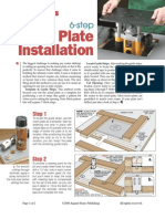 6 Step Router Plate Installation
