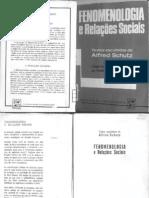 Alfred Schutz Fenomenologia