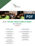 """ATTI del 1°Focus Group """"Progetto di riforma dei campionati"""""""