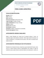 Historia Clinica Geriatria Dra