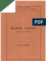 HADİS USÜLÜ -Dr. Talât KOÇYİĞİT-