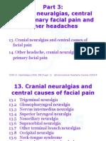 Pt3 - Cranial NeuralgiasFacial Pain
