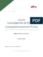 Lernwidgets für die Personal Learning Environment der TU Graz