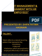 Talent Management & Its Alignment With Hr Empoyees Ppt