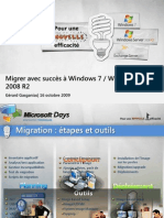 Migrer Avec Succes a Windows 7 Windows Server 2008 R2