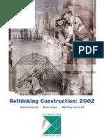 Rethinking Construction - 2002