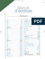 manuel d'écriture cp
