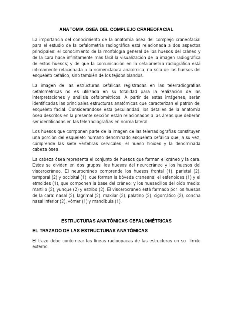 ANATOMÍA ÓSEA DEL COMPLEJO CRANEOFACIAL