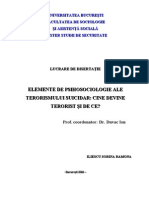 Iliescu Sorina - Psihologia Terorismului Suicidar