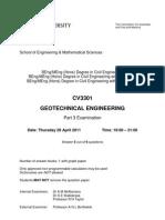 2011 Exam Geotechnical