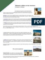 Bâtiments célèbres et des structures