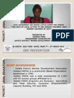Vainess Phiri, Zambia, Prevention - Summit 2012