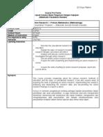 Proforma Mte 3113 - Action Research I - Primary Mathematics Methodology)