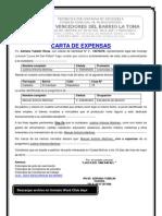 Carta de expensas