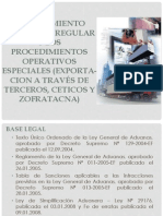 Procedimiento Operativo Regular y Los Procedimientos Operativos Especiales