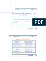 Investigation of Laser Ablation of CVD Diamond Film