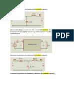 Determinar los parámetros de impedancia del transductor siguiente