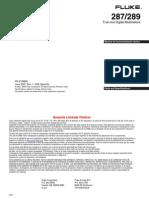 Fluke 289 Manual