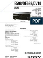 Sony-STRDE598 698 Rec
