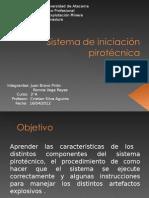 Sistema de iniciación pirotécnica