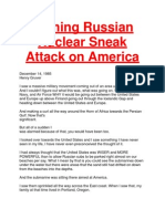 Coming Russian Nuclear Sneak Attack on America
