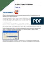 Como Usar e Instalar y Config CCleaner