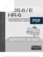 HDS 6 HR 6 Manual