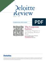 US Deloittereview the Corporate Lattice Jan11
