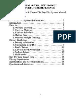 Quick Trim Kit Manual Glycogen Dieting