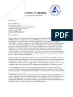 American Dental Association to CMS - Back off audits request July 2011