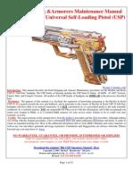 Hk Usp Field Stripping & Armorers Maintenence Manual