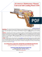 Hk Usp Field Stripping & Armorers Maintenence Manual