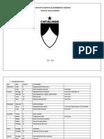 Cronograma de Actividades 2011-2012 bachI