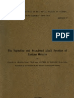Adams & Barlow-The Nepheline and Associated Alkali Syenites of Eastern Ontario 1909