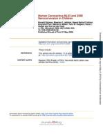 Human Corona Virus NL63 and 229E Seroconversion in Children (1)