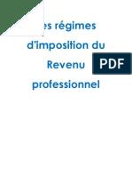 Les régimes d'imposition du Revenu professionnel