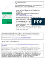 Information Sharing and Coordination Mechanisms for Managing Uncertainty in Supply Chains- A Simulation Study