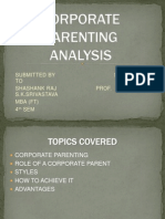 Corporate Parenting Analysis