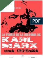 Cohen La Teoria de La Historia de Karl Marx Una Defensa OCR