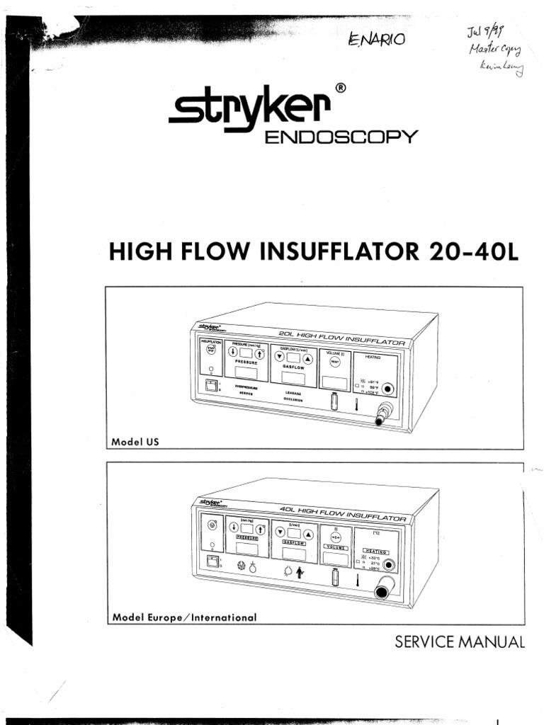 Stryker 30L Insufflator Service Manual