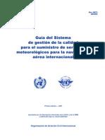 DOC.9873 Guía del Sistema de gestión de la calidad para el suministro de servicios meteorológicos es