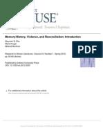 Memory History Violence Reconciliation Intro