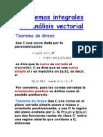 Teoremas integrales del análisis vectorial