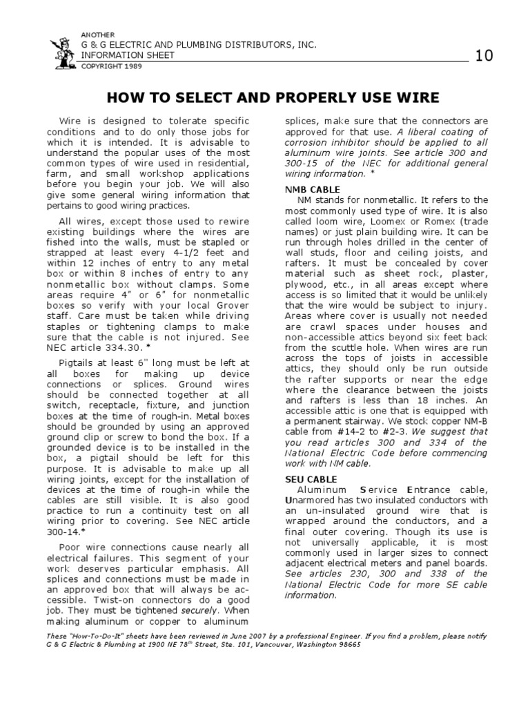 10_How to Select & Properly Use Wire | Electrical Wiring | Cable