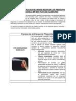 APLICACIÓN DE  PLAGUICIDAS