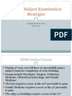 Student 2 Student NBME Subject Examination Strategies