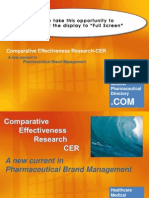 Comparative Effectiveness Research-A New Current in Pharmaceutical Brand Management