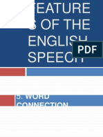 Features of English Speech